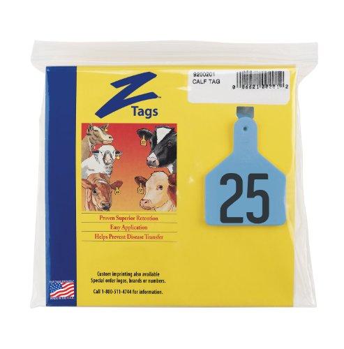 Z etiquetas 1 pieza Pre-numerados estampilla caliente etiquetas para terneros, números de 76 A 100, azul