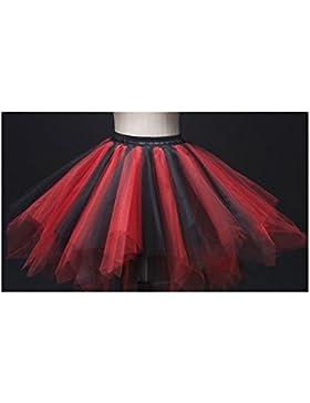 Mujeres y Chicas Falda de Tutú Princesa Ballet Realizando Vestido Ropa de baile (para adultos, mixed 5)