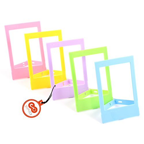 Bilder-Rahmen Foto-Rahmen Bunt Decor für Mini Fuji Instax Polaroid Film ( Rosa Grün Gelb Blau Lila ) Schreibtisch Display Polaroid Digital Photo Frames