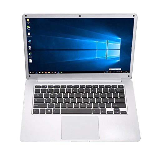 Funnyrunstore Laptop Quad Core da 14,1 pollici ultra sottile professionale per Windows 10, argento
