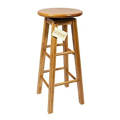 Woodluv Bamboo Wooden Revolving Breakfast Bar Stool - inexpensive UK bar stool shop.