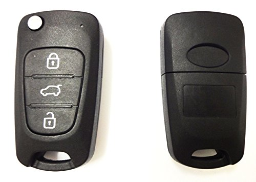 HyundaiKS12 - Ersatz Schlüsselgehäuse Autoschlüssel Schlüssel Fernbedienung Funkschlüssel Gehäuse ohne Elektronik. Jurmann Trade GmbH® (für Hyundai) -