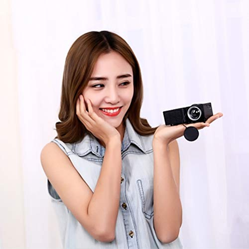 UC28B Mini Portable LED Projector 1080P HD Family Cinema Color black