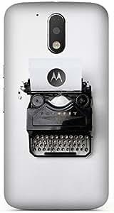 Typewriter Printed Back Cover Case For Motorola Moto G4