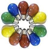 Leuchtmittel Glühlampen 10er Set für Illu Leitung farbig sortiert 25 Watt