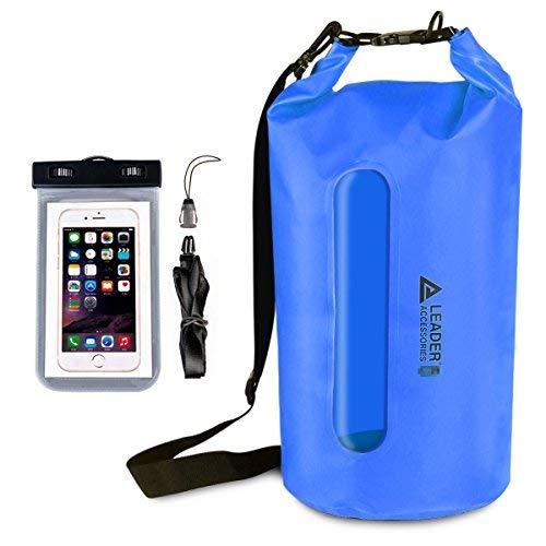 wasserdichte Tasche für Boote und Camping, Blue w/ window+Phone Case ()