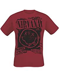 Nirvana Band Poster T-Shirt Red