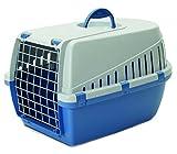 Savic Trotter 2 Transportbox, Atlantic Blue/ hellgrau, 56 x 37,5 x 33 cm