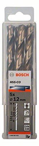 Bosch Professional Metallbohrer HSS-Cobalt (5 Stück, Ø 12 mm)