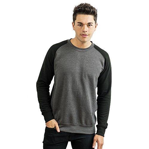 Just Hoods - Sweat-shirt - Col Ras Du Cou - Manches Longues - Opaque - Femme Gris - Charcoal/Jet Black