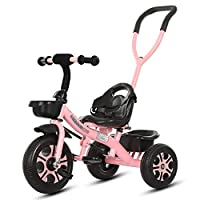 58SD Pink 2-in-1 Trike on Ride for Toddler, 3 Wheels Children