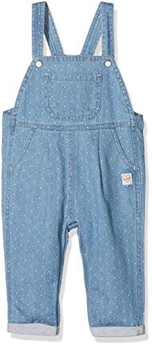 Sanetta Baby-Mädchen Latzhose 114276, Blau (White Dots 9594), 80