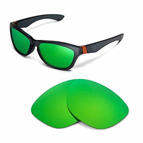 Walleva Ersatzgläser für Oakley Jupiter Sonnenbrille - Mehrfache Optionen (Emerald Mirror Coated - Polarisiert)