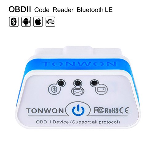 TONWON Bluetooth 4.0 (BLE) OBD2 Auto-Code-Leser-Scan-Tool OBD-Scanner für iOS, Android-Gerät