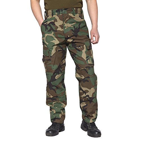 TACVASEN Military Army Ripstop Herren Cargo Hose Militär Airsoft Männer Hosen Camouflage Flecktarn