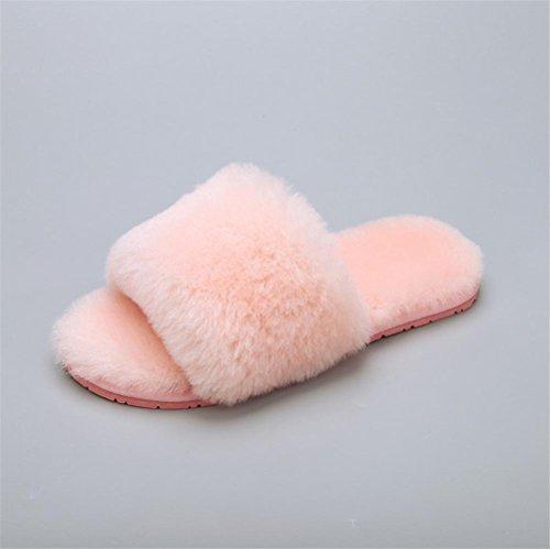 Mhgao da donna casual Slipper indoor casa per autunno/inverno pelliccia pantofole 2
