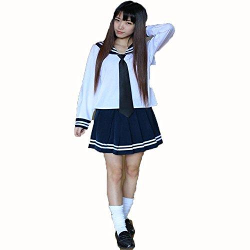 DD Japan Und Südkorea Langärmeligen Kleid Sexy Student ,l (Japan National Kostüm Für Frauen)
