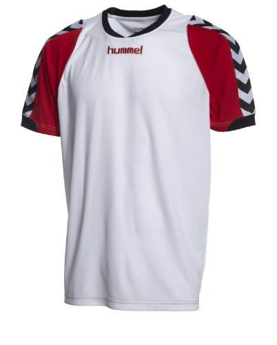Hummel Kinder Trikot BEE AUTHENTIC Short Sleeve JERSEY 1, white/true red, 110 ( 4 ), 03-909-9402_9402
