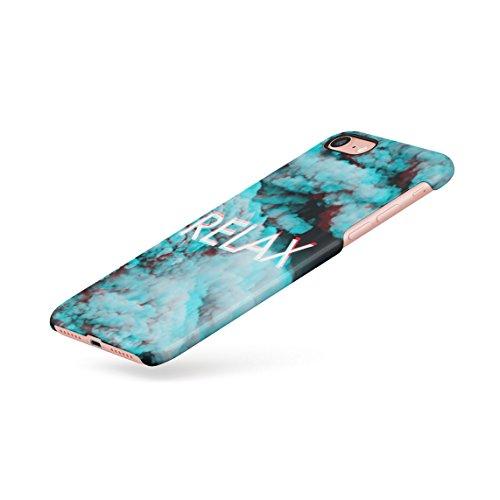 Trippy Blue Smoke Relax Dünne Rückschale aus Hartplastik für iPhone 7 & iPhone 8 Handy Hülle Schutzhülle Slim Fit Case cover Trippy Smoke Relax
