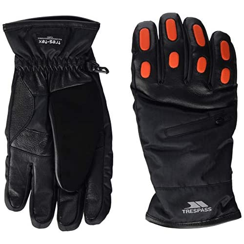 Trespass Men's Argus Warm Padded Waterproof Gloves with Knuckle Protectors