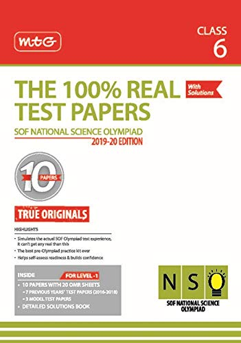 The 100% Real Test Papers (NSO) Class 6
