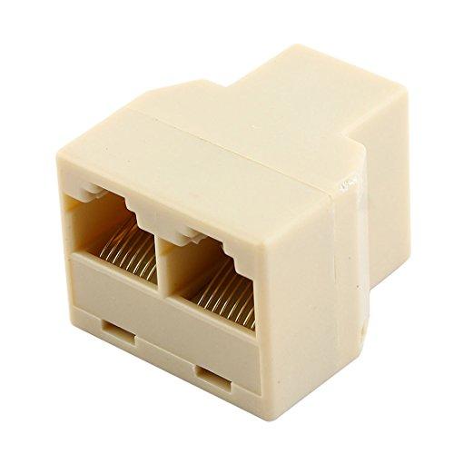 sourcingmap® Ethernet Rj45 8P8C 3 Wege Netzwerk Kabel Splitter Extender Stecker Kupplung (8p8c-splitter)