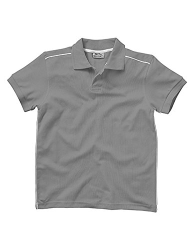 Backhand Polo Grey (Solid)-White