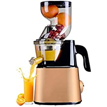 RMXMY Máquina de zumos de Gran Calibre para Uso en el hogar, más función, Fruta y verdura frita con Leche de Soja, exprimidor de Jugo de Baja Velocidad de ...