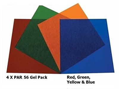 Par / Parcan 56 Gels - 4 x Stage Lighting Filters Colour Gel Pack
