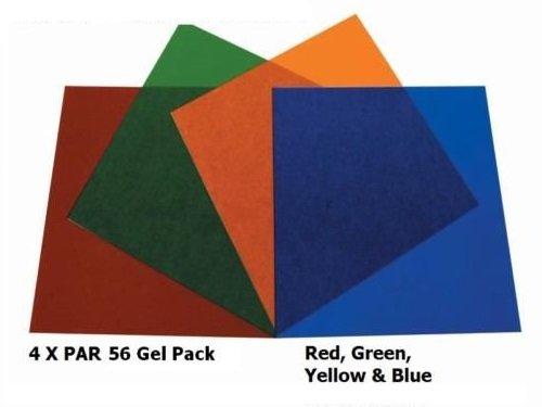 Parcan 56 Gels 7 x Stage Lighting Filters Colour Gel Pack Par