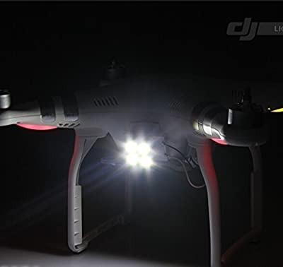 RCstyle 4 Large LED Head Light Lamp for DJI Phantom 3 Quadcopter