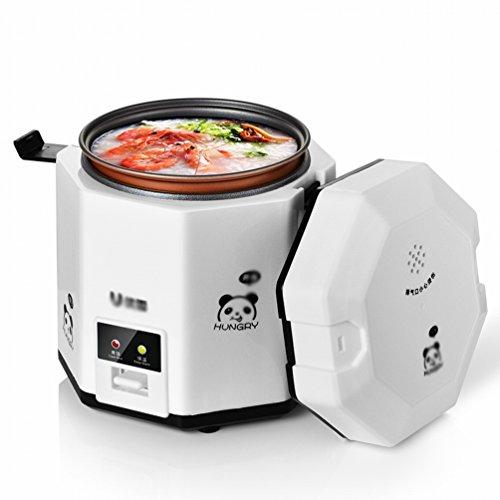 DHG Reiskocher 1 Person -2 Personen Mini-Haushaltskapazität Kleiner Reiskocher,Weiß