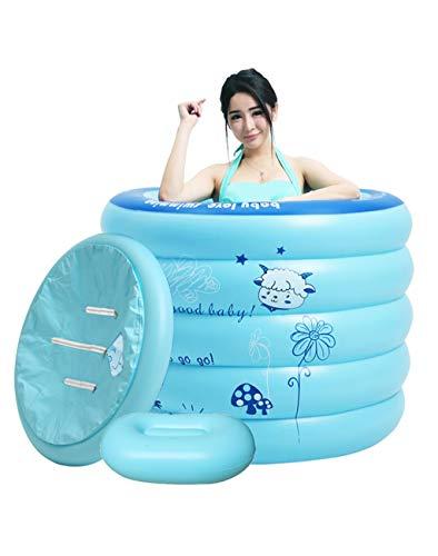 Faltbare Aufblasbare Badewanne Mit Elektrischer Pumpe Aufblasbare Badefass Schwimmbecken Für Kinder - Für Kinder, Erwachsene Und Familien