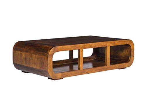 Woodkings® Couchtisch Springston 115x60cm, Akazie braun, Echtholz modern, Design, Massivholz exklusiv, Design Lounge Coffee Table, TV Bank, TV lowboard, TV unterschrank, TV Möbel curved, günstig