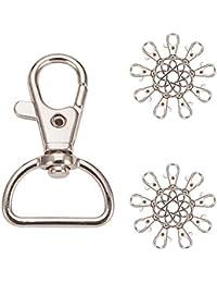 98be41bf6bb4 Pandahall Elite - Lote de 20pcs llavero en hierro cadenas con anillo