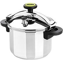 Monix Classica - Olla a presión tradicional de 4 litros, acero inoxidable, 22 cm