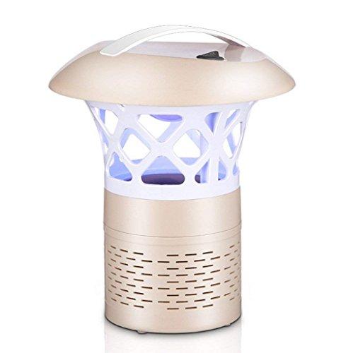Fliegende Killer LED Blu-Ray 360 ° Lichtquellen Keine Strahlung Smart Lichtsteuerung Physische Moskito-Kontrolle Sicherheit Moskito-Caterpillar Insektenkontrolle Home High Performance Mücke Licht,Gold -