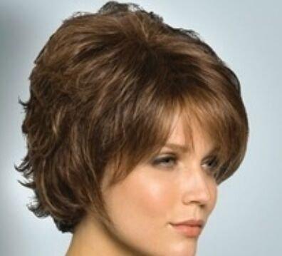 Année européenne de perruque de cheveux bouclés courts de le fil haute température perruques fashion perruques cheveux perruque soins Kit , brown