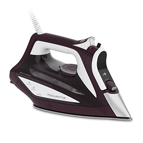 Rowenta Focus Excel DW5220 - Plancha (Plancha a vapor, Microsteam 400 soleplate, 1,9 m, 180 g/min, Burdeos, Blanco, 45 g/min)
