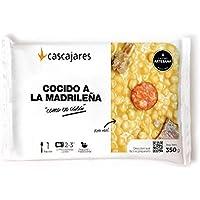 """CASCAJARES - Cocido a la madrileña """"como en casa"""" - Tradicional plato preparado ya para calentar 3 minutos en microondas y comer. Perfecto para una persona, bandeja 300 gramos. Sin gluten ni lactosa."""