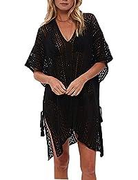 L-Peach Crochet Pareo Túnica de Playas de Algodón para Mujer Bikini  Coverups Net Beachwear b2f48998692
