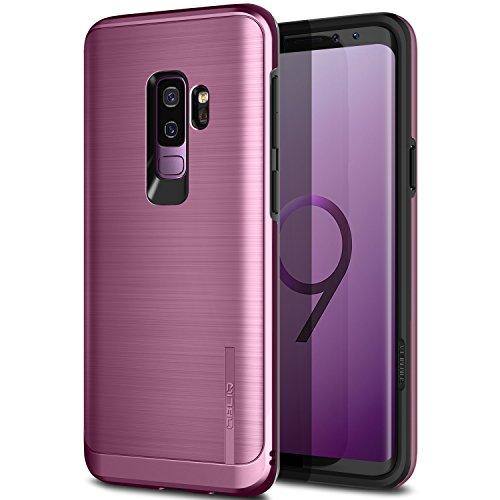 Obliq Slim Meta Schutzhülle für Galaxy S9Plus, zweischichtige Hülle, Thermoplastik innen, außen Polycarbonat, Optik wie gebürstetes Metall, Anti-Shock-Technologie, Lila/Violett