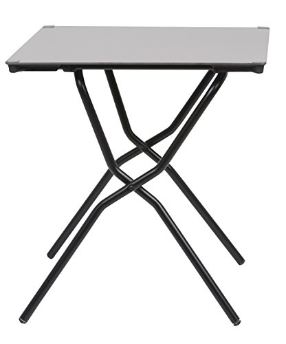 Lafuma Table de jardin carrée, 68 x 64 cm, 2 places, Pliable, Protection intempéries, Anytime, Couleur: Stone, LFM2781-7237