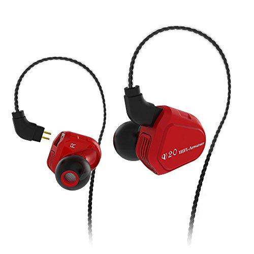 QINPIN In-Ear-Kopfhörer HiFi-Hängeohr mit eiserner Bass-Telefonmusik mit Weizen-Kopfhörern