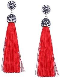 YAZILIND Drop Dangle pendientes piercing borla colgante hermoso rhinestone mujeres oreja de regalo de joyería