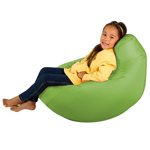 Kids Hi-BagZ - Kids Bean Bag Gaming Chair - Childrens Beanbag (Water Resistant) LIME GREEN