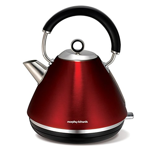 Morphy Richards 102004EE Accents Wasserkocher Pryramide rot - 7