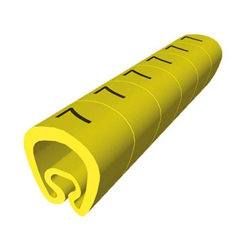 Unex 1812-3 Kunststoff-Schilder, gestanzt für 4 mm auf 8 mm Kabel, Gelb, 3 Karten, Packung mit 1000 Stück