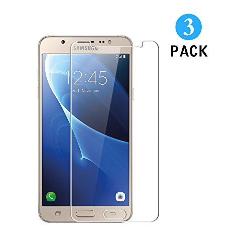 WEOFUN Samsung Galaxy J7 2016 Panzerglas, [3 Stück] Ultra-klar Schutzfolie für Samsung Galaxy J7 2016 [0.33mm, 9H, Ultra-klar]