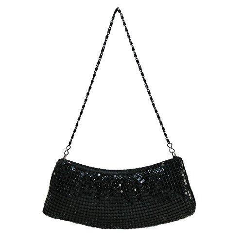 magid-womens-metal-mesh-handbag-with-chain-strap-black